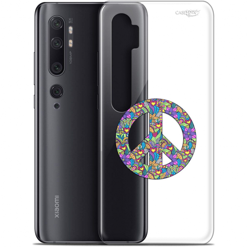 "Carcasa Gel Extra Fina Xiaomi Mi Note 10 / Pro (6.47"") Design Peace And Love"