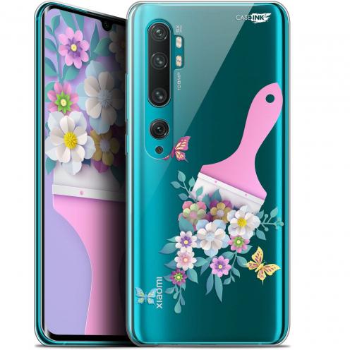 """Carcasa Gel Extra Fina Xiaomi Mi Note 10 / Pro (6.47"""") Design Pinceau à Fleurs"""
