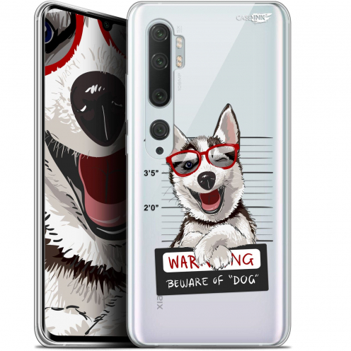 "Carcasa Gel Extra Fina Xiaomi Mi Note 10 / Pro (6.47"") Design Beware The Husky Dog"