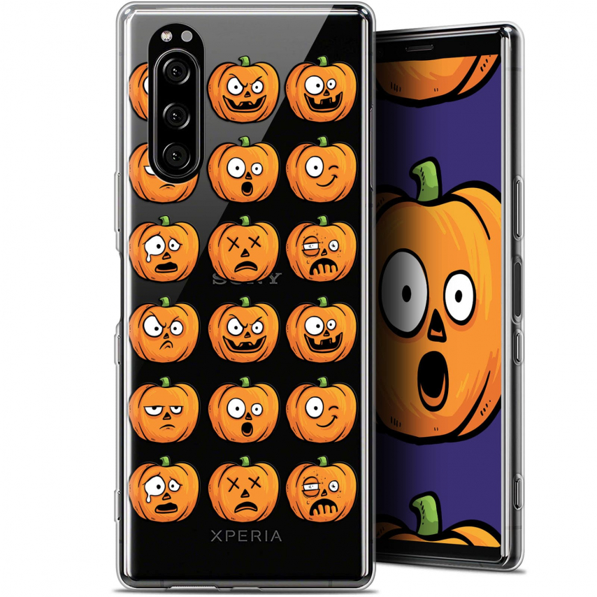 "Carcasa Gel Extra Fina Sony Xperia 5 (6.1"") Halloween Cartoon Citrouille"