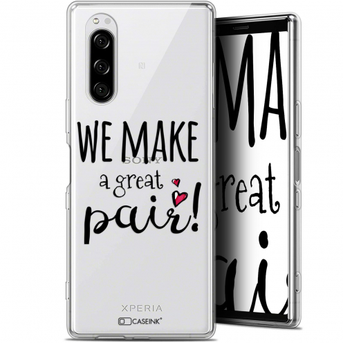 "Carcasa Gel Extra Fina Sony Xperia 5 (6.1"") Love We Make Great Pair"