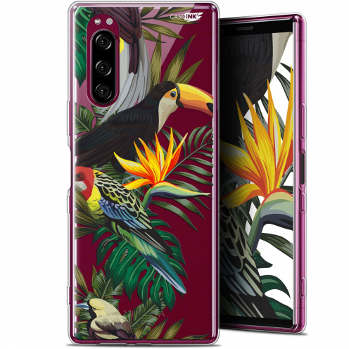 "Carcasa Gel Extra Fina Sony Xperia 5 (6.1"") Design Toucan Tropical"