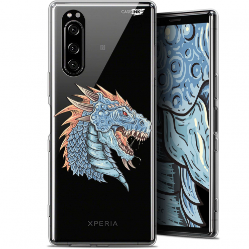"Carcasa Gel Extra Fina Sony Xperia 5 (6.1"") Design Dragon Draw"