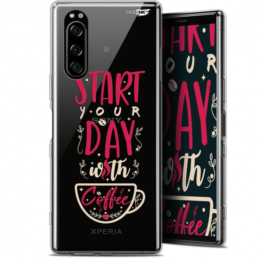 "Carcasa Gel Extra Fina Sony Xperia 5 (6.1"") Design Start With Coffee"