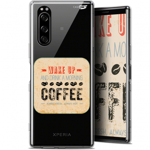 "Carcasa Gel Extra Fina Sony Xperia 5 (6.1"") Design Wake Up With Coffee"