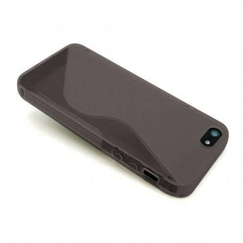Carcasa iPhone 5S / 5 TPU Basics SLine Negro ahumado