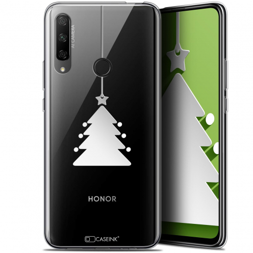 """Carcasa Gel Extra Fina Huawei Honor 9X (6.59"""") Noël 2017 Petit Arbre"""