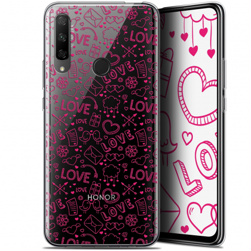 "Carcasa Gel Extra Fina Huawei Honor 9X (6.59"") Love Doodle"