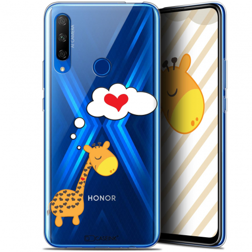 "Carcasa Gel Extra Fina Huawei Honor 9X (6.59"") Love Girafe Amoureuse"