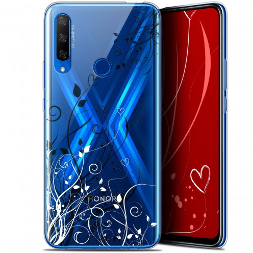 "Carcasa Gel Extra Fina Huawei Honor 9X (6.59"") Love Hearts Flowers"