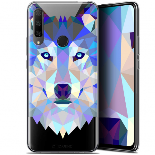 "Carcasa Gel Extra Fina Huawei Honor 9X (6.59"") Polygon Animals Lobo"