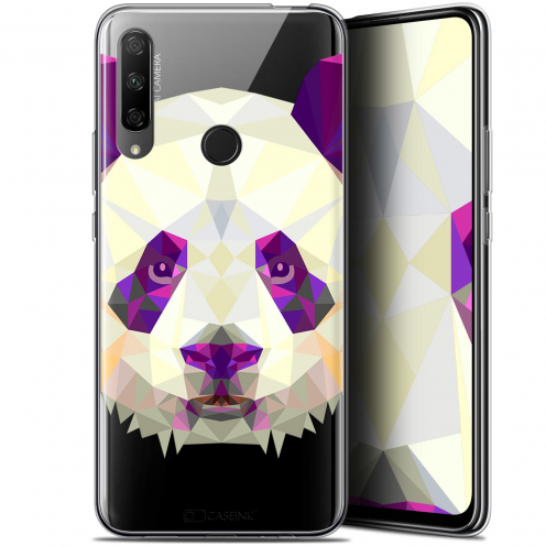 "Carcasa Gel Extra Fina Huawei Honor 9X (6.59"") Polygon Animals Panda"