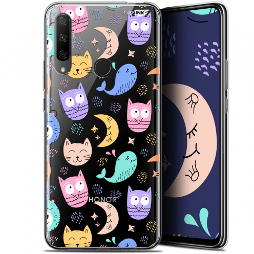 "Carcasa Gel Extra Fina Huawei Honor 9X (6.59"") Design Chat Hibou"