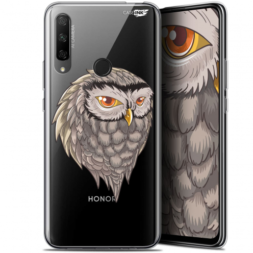 "Carcasa Gel Extra Fina Huawei Honor 9X (6.59"") Design Hibou Draw"