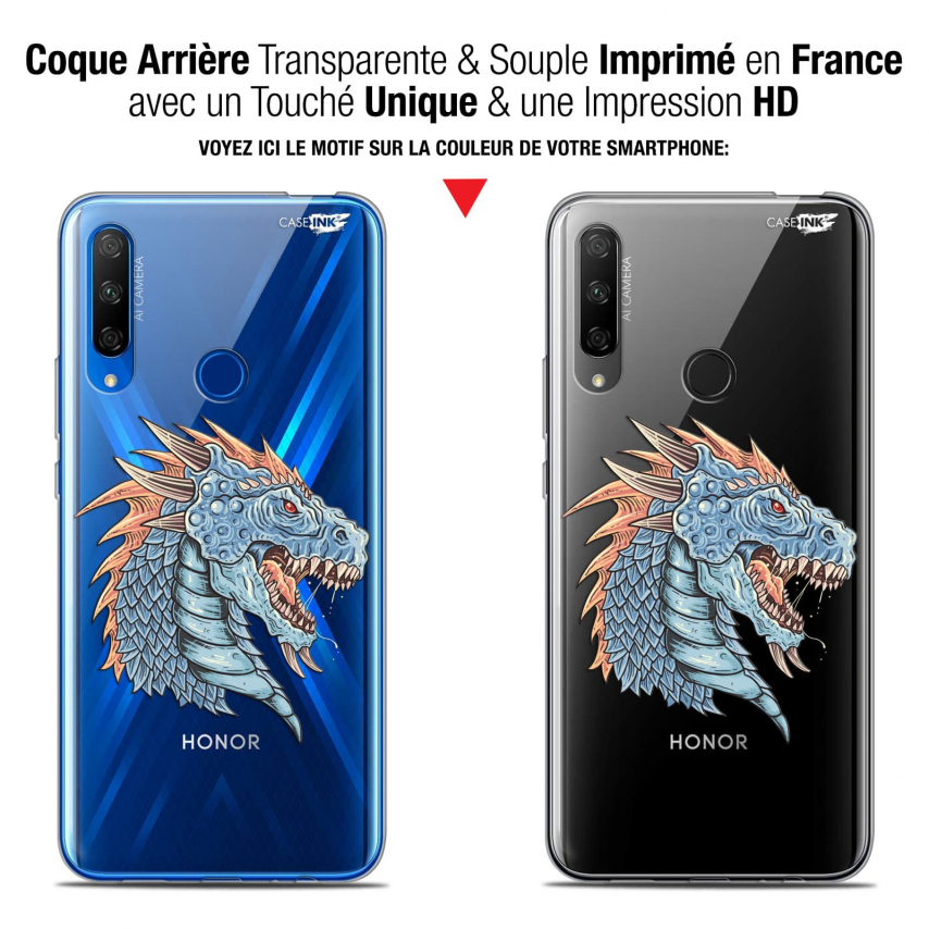 "Carcasa Gel Extra Fina Huawei Honor 9X (6.59"") Design Dragon Draw"