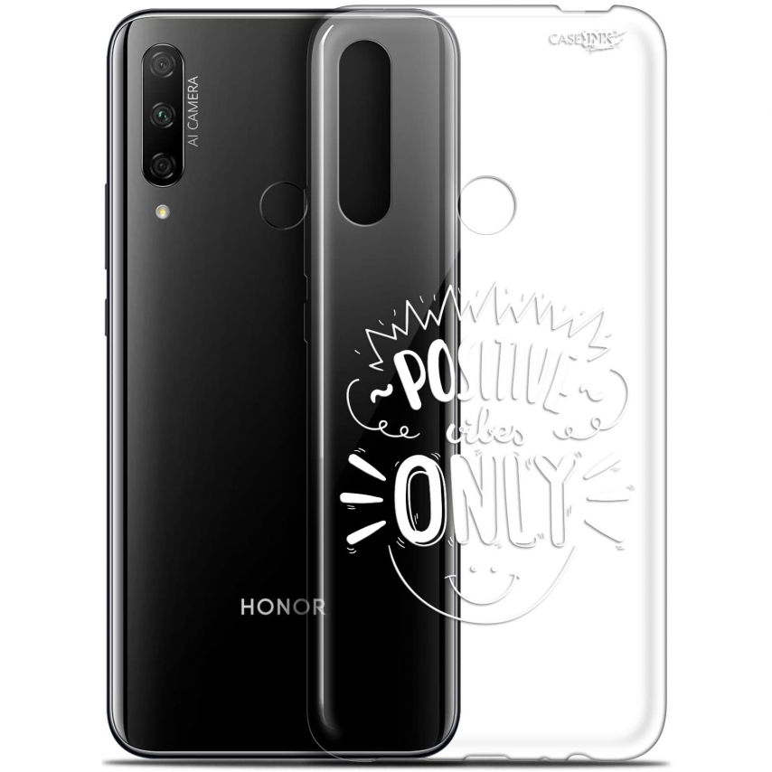 """Carcasa Gel Extra Fina Huawei Honor 9X (6.59"""") Design Positive Vibes Only"""