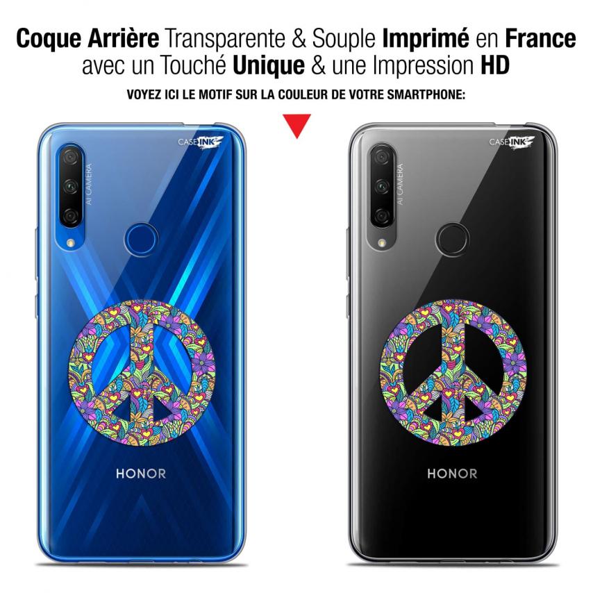 "Carcasa Gel Extra Fina Huawei Honor 9X (6.59"") Design Peace And Love"
