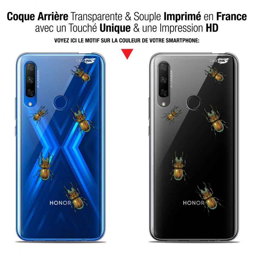 """Carcasa Gel Extra Fina Huawei Honor 9X (6.59"""") Design Petits Scarabés"""