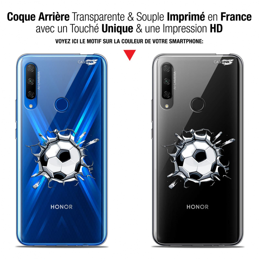 "Carcasa Gel Extra Fina Huawei Honor 9X (6.59"") Design Le Balon de Foot"