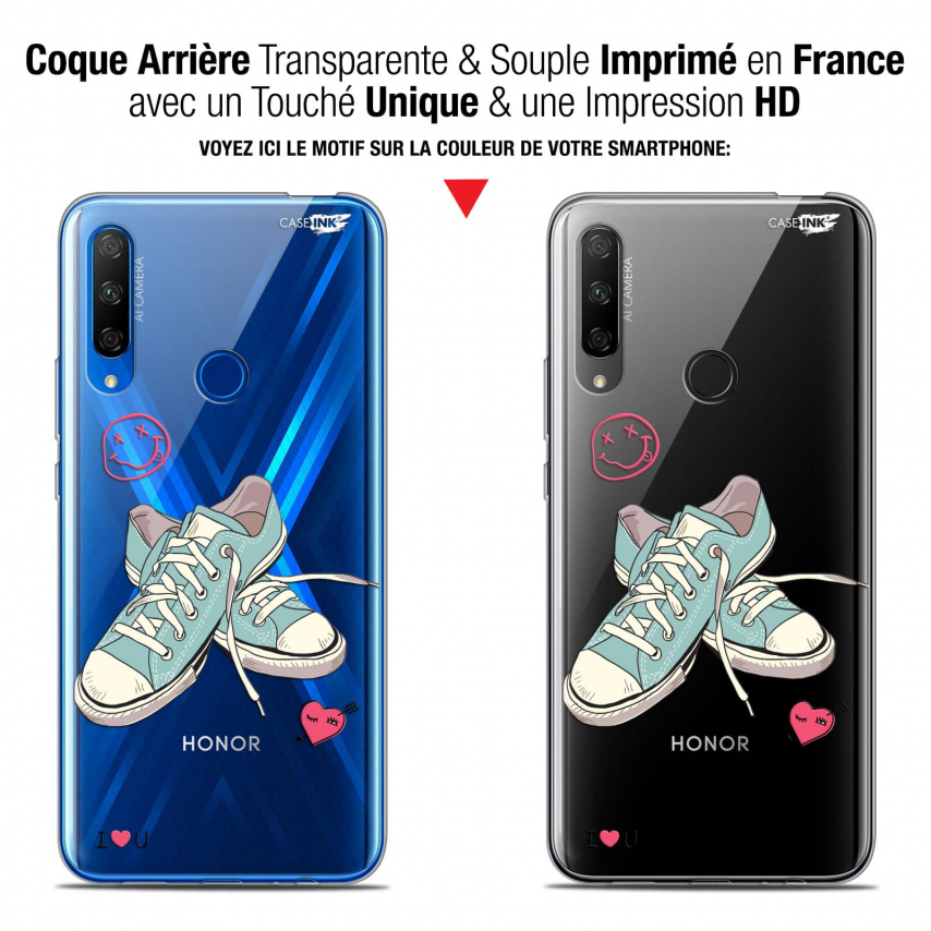 """Carcasa Gel Extra Fina Huawei Honor 9X (6.59"""") Design Mes Sneakers d'Amour"""