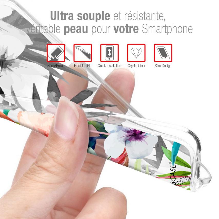 """Carcasa Gel Extra Fina Huawei Honor 9X (6.59"""") Design Pinceau à Fleurs"""