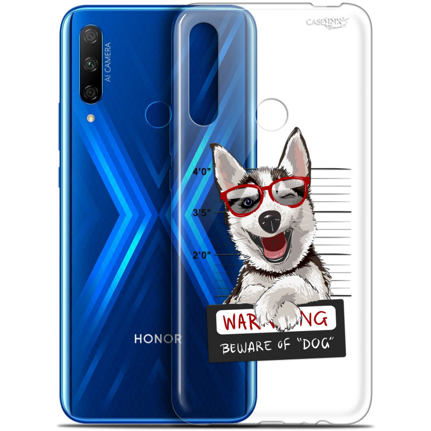 "Carcasa Gel Extra Fina Huawei Honor 9X (6.59"") Design Beware The Husky Dog"