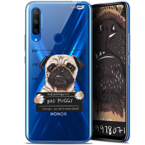 "Carcasa Gel Extra Fina Huawei Honor 9X (6.59"") Design Beware The Puggy Dog"