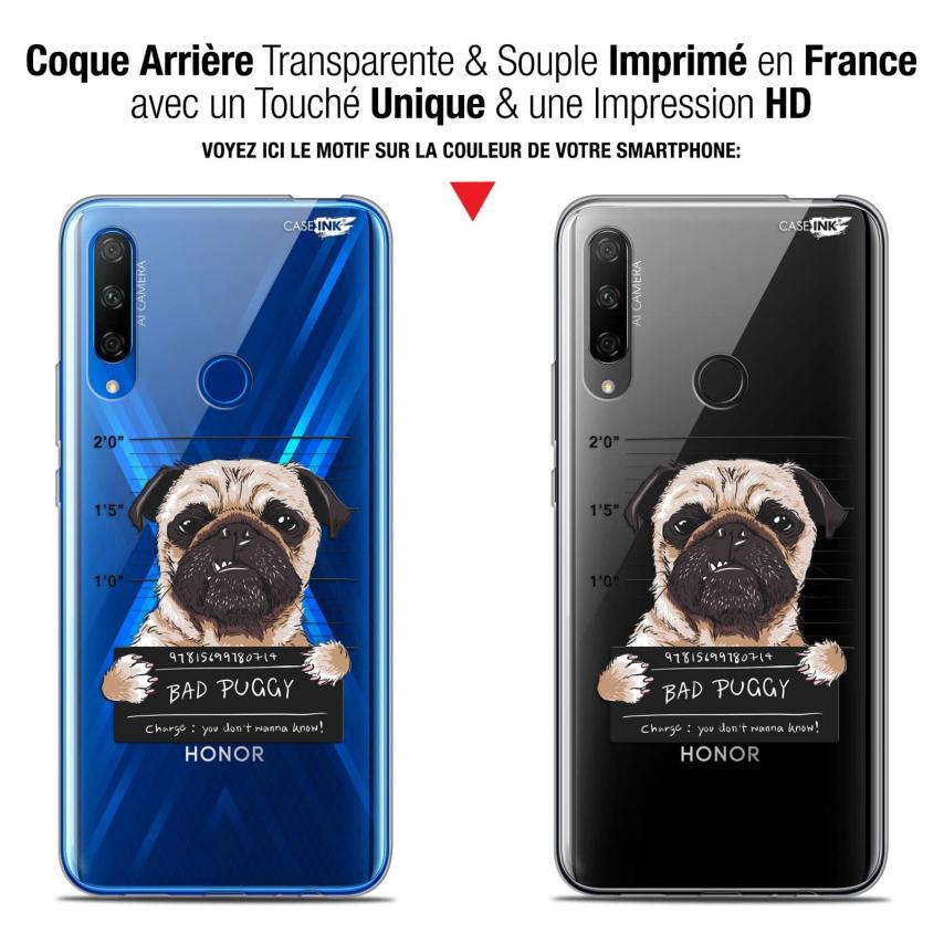 "Carcasa Gel Extra Fina Huawei Honor 9X (6.59"") Design Beware The Puggy Dog"