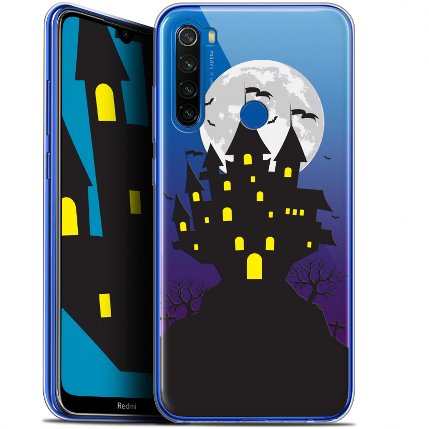 "Carcasa Gel Extra Fina Xiaomi Redmi Note 8T (6.3"") Halloween Castle Scream"