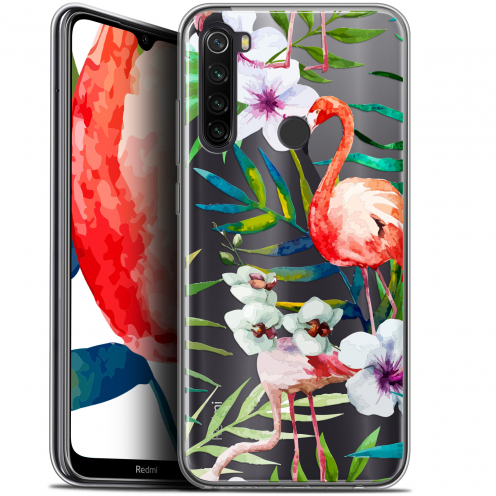 "Carcasa Gel Extra Fina Xiaomi Redmi Note 8T (6.3"") Watercolor Tropical Flamingo"