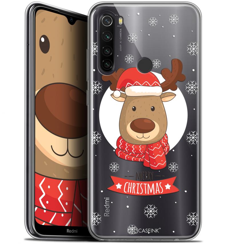 """Carcasa Gel Extra Fina Xiaomi Redmi Note 8T (6.3"""") Noël 2017 Cerf à Echarpe"""