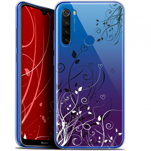"Carcasa Gel Extra Fina Xiaomi Redmi Note 8T (6.3"") Love Hearts Flowers"