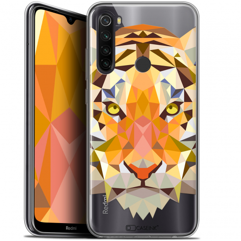 "Carcasa Gel Extra Fina Xiaomi Redmi Note 8T (6.3"") Polygon Animals Tigre"