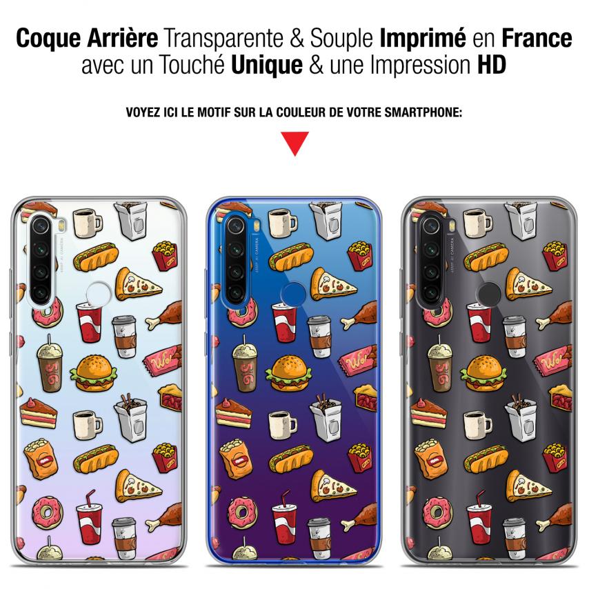 "Carcasa Gel Extra Fina Xiaomi Redmi Note 8T (6.3"") Foodie Fast Food"