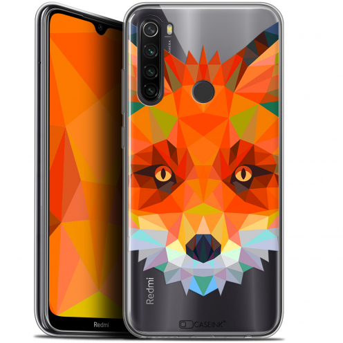 "Carcasa Gel Extra Fina Xiaomi Redmi Note 8T (6.3"") Polygon Animals Zorro"