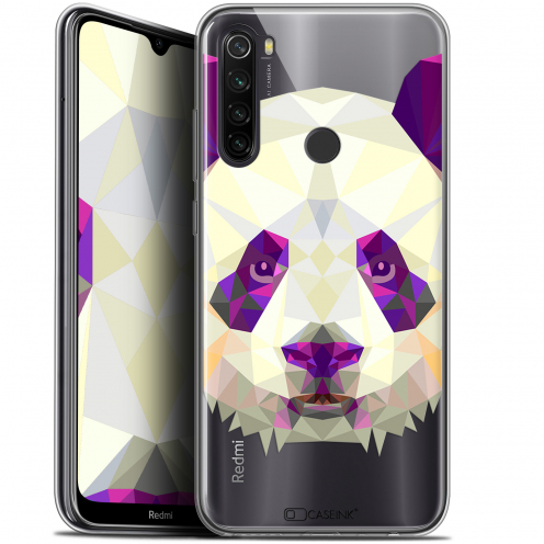 "Carcasa Gel Extra Fina Xiaomi Redmi Note 8T (6.3"") Polygon Animals Panda"