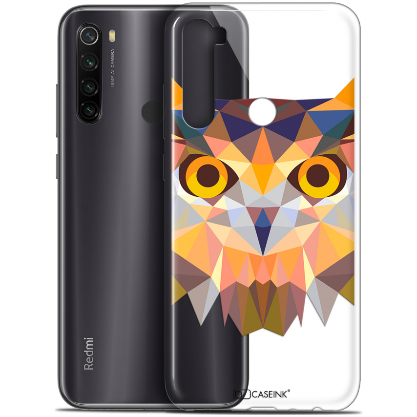"Carcasa Gel Extra Fina Xiaomi Redmi Note 8T (6.3"") Polygon Animals Búho"