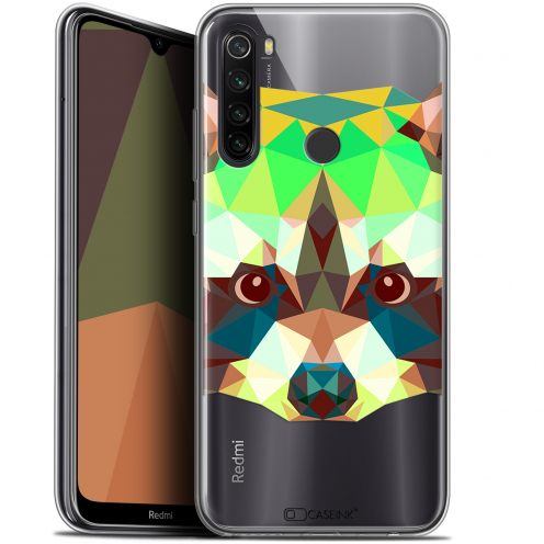 "Carcasa Gel Extra Fina Xiaomi Redmi Note 8T (6.3"") Polygon Animals Raton Laveur"