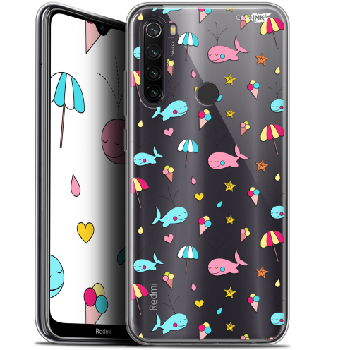 """Carcasa Gel Extra Fina Xiaomi Redmi Note 8T (6.3"""") Design Baleine à la Plage"""
