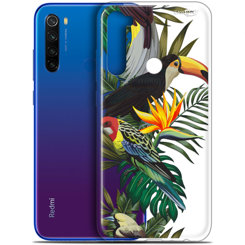 "Carcasa Gel Extra Fina Xiaomi Redmi Note 8T (6.3"") Design Toucan Tropical"