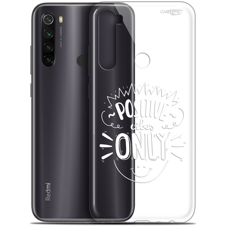 """Carcasa Gel Extra Fina Xiaomi Redmi Note 8T (6.3"""") Design Positive Vibes Only"""