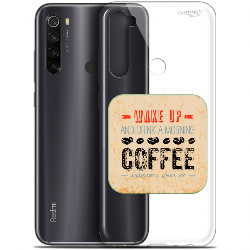 "Carcasa Gel Extra Fina Xiaomi Redmi Note 8T (6.3"") Design Wake Up With Coffee"