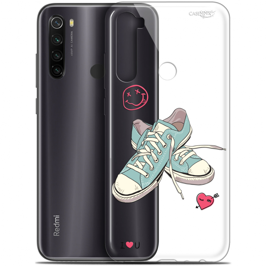 "Carcasa Gel Extra Fina Xiaomi Redmi Note 8T (6.3"") Design Mes Sneakers d'Amour"