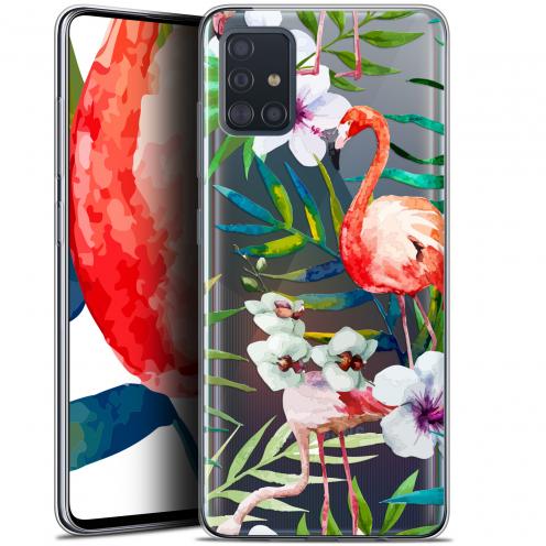 """Carcasa Gel Extra Fina Samsung Galaxy A51 (A515) (6.5"""") Watercolor Tropical Flamingo"""