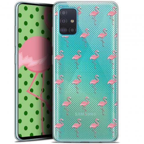 "Carcasa Gel Extra Fina Samsung Galaxy A51 (A515) (6.5"") Pattern Les flamants Roses Dots"