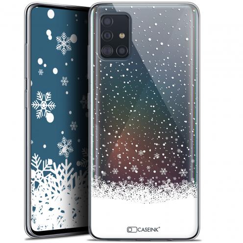 "Carcasa Gel Extra Fina Samsung Galaxy A51 (A515) (6.5"") Noël 2017 Flocons de Neige"