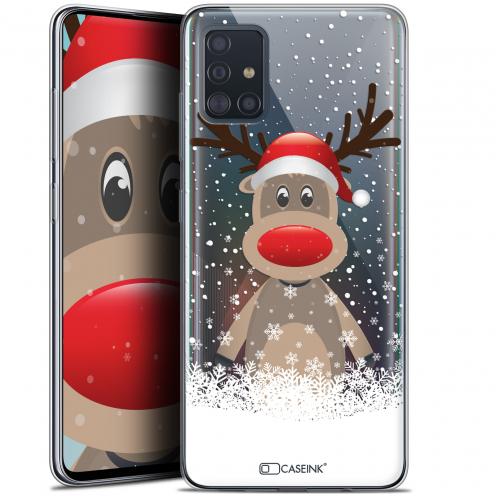 """Carcasa Gel Extra Fina Samsung Galaxy A51 (A515) (6.5"""") Noël 2017 Cerf au Bonnet"""
