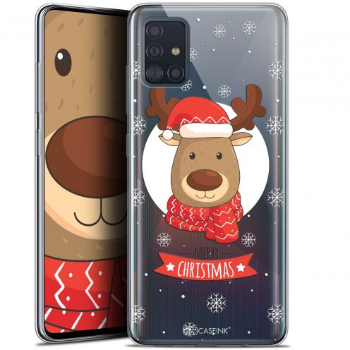 "Carcasa Gel Extra Fina Samsung Galaxy A51 (A515) (6.5"") Noël 2017 Cerf à Echarpe"