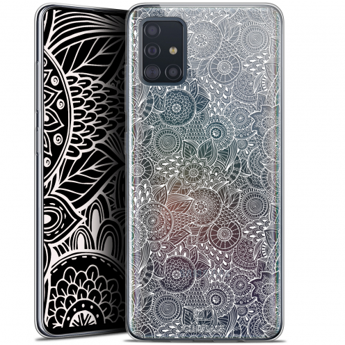 "Carcasa Gel Extra Fina Samsung Galaxy A51 (A515) (6.5"") Dentelle Florale Blanc"