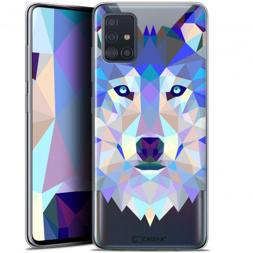 """Carcasa Gel Extra Fina Samsung Galaxy A51 (A515) (6.5"""") Polygon Animals Lobo"""